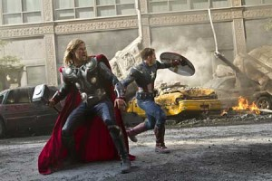 Cap and Thor in The Avengers